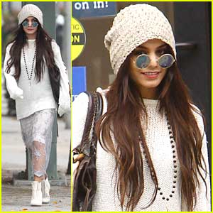 Vanessa Hudgens Wears Yoko Ono-Like Glasses While Shopping