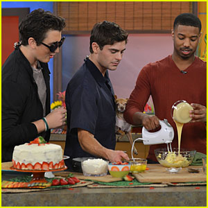 Zac Efron: 'Despierta América' with Michael B. Jordan!