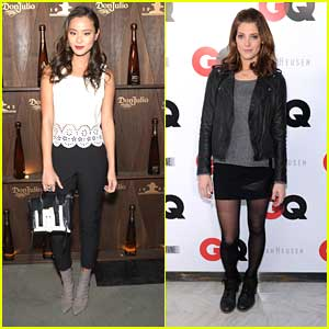 Jamie Chung & Ashley Greene: Super Bowl Parties!