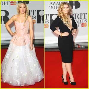 Ellie Goulding & Ella Henderson: BRIT Awards 2014