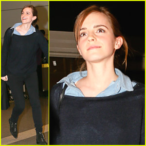 Emma Watson: LAX Arrival Ahead of Oscars Weekend