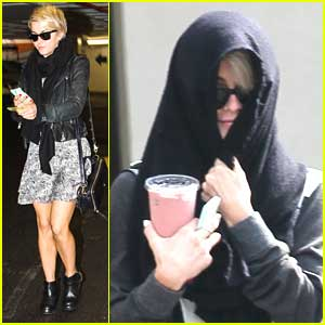 Julianne Hough Hides New Pixie Cut Under Hoodie