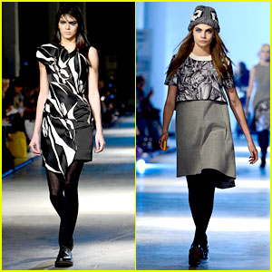 Kendall Jenner Walks in Giles Fashion Show with Cara Delevingne!