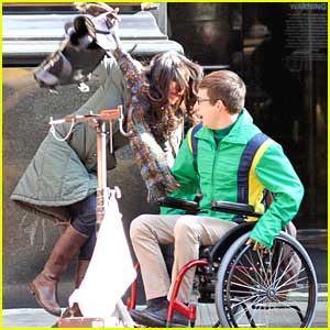 Kevin McHale: Wheelchair Run-In on 'Glee' Set