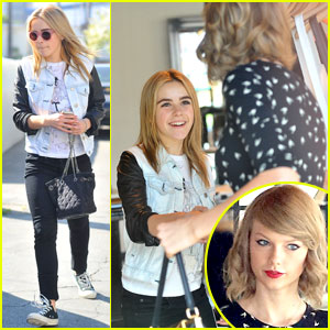 Kiernan Shipka Runs into Taylor Swift While Shopping at Rag & Bone!