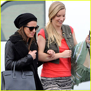 Lea Michele & Heather Morris: Shopping Buddies!