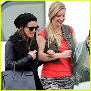 Lea Michele & Heather Morris: Shopping Buddies!