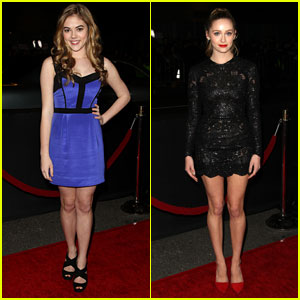 McKaley Miller & Greer Grammer: 'Vampire Academy' Premiere Girls