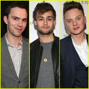 Nicholas Hout & Douglas Booth: BRIT Awards 2014 WMG After-Party with Conor Maynard