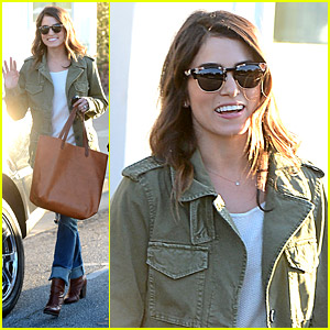 Nikki Reed Swings By Her Stylist's Place