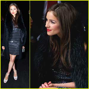 Olivia Culpo: Front Row at Nicole Miller Fashion Show After Meeting Alena Rose Jonas