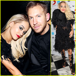 Rita Ora & Boyfriend Calvin Harris Hit Up BRIT Award After-Parties