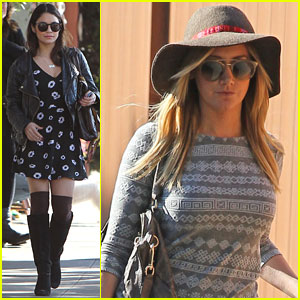 Vanessa Hudgens & Ashley Tisdale Meet Up for Kim Hidalgo's Birthday Lunch