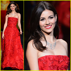 Victoria Justice: Red Dress Fashion Show 2014