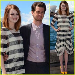 Andrew Garfield & Emma Stone Take Their Love to Sydney for 'Spider-Man 2' Photo Call