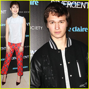 Ansel Elgort: Varsity Jacket For 'Divergent' NYC Premiere
