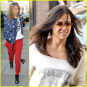 Cara Delevingne & Michelle Rodriguez Continue Spending Time Together in L
