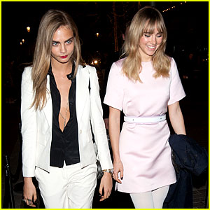 Cara Delevingne Enjoys Night On the Town with Suki Waterhouse!