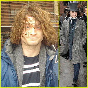 Daniel Radcliffe Covers Long Hair with Topper Hat for 'Frankenstein'