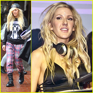 Ellie Goulding Wears Bindi While DJ'ing in Dublin