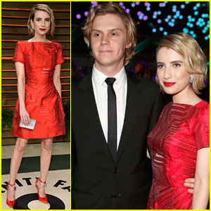 Emma Roberts & Evan Peters: Vanity Fair Oscars Party 2014