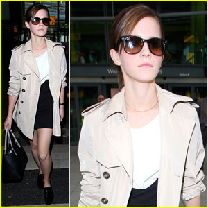 Emma Watson: Back to London After Oscars 2014!