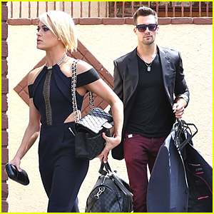 James Maslow & Peta Murgatroyd Head to Dance Practice After KCAs 2014