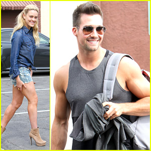James Maslow & Peta Murgatroyd: Friday Dancing Practice Pair
