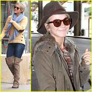 Julianne Hough: LA Lunch Before Flight to Washington D.C.
