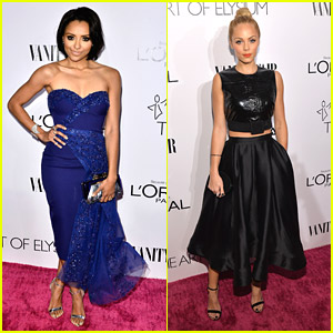 Kat Graham & Laura Vandervoort Party with L'Oreal & Vanity Fair Before QVC Party