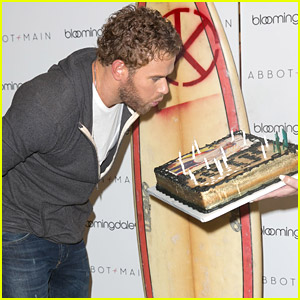Kellan Lutz: Birthday Cake at Abbot + Main Spring Launch