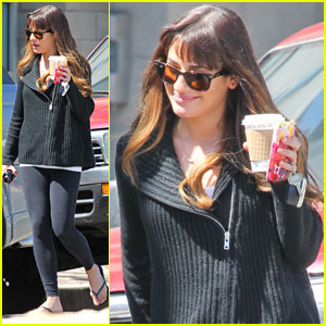 Lea Michele Gets Her Caffeine Fix Before Kicking Off 'Glee'-ful Week
