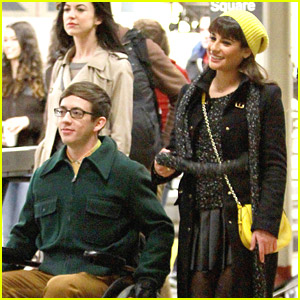 Lea Michele & Kevin McHale: 'Glee' Goes To Grand Central Station!