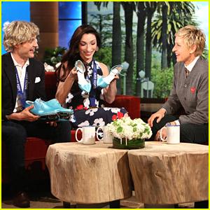 Meryl Davis & Charlie White Stop By 'Ellen' Ahead of DWTS Premiere