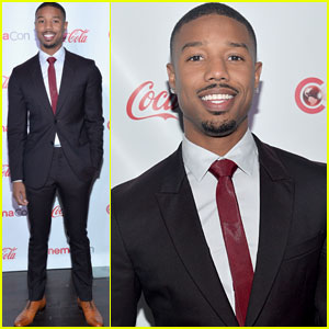 Michael B. Jordan Looks Handsome at CinemaCon 2014!