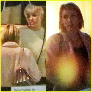Miley Cyrus & Emma Roberts Grab Dinner Together at Kiwami!