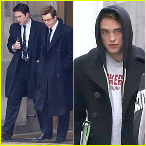 Robert Pattinson Hides Under a Hoodie on 'Life' Set!