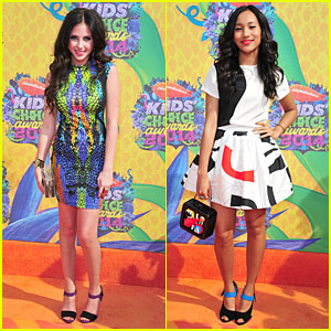 Ryan Newman & Sydney Park Are Leggy Correspondants at Kids' Choice Awards 2014!