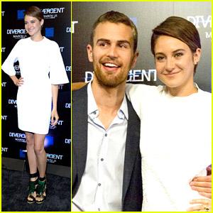 Shailene Woodley & Theo James Screen 'Divergent' in Atlanta