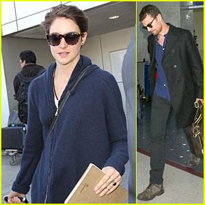 Shailene Woodley & Theo James Rock Sunglasses For Separate LAX Landings!