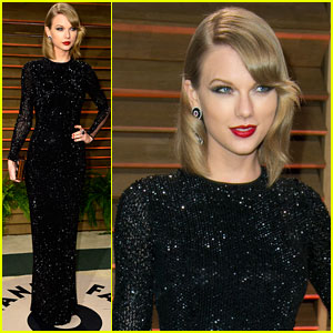 Taylor Swift Goes Glam for the Vanity Fair Oscars Party 2014