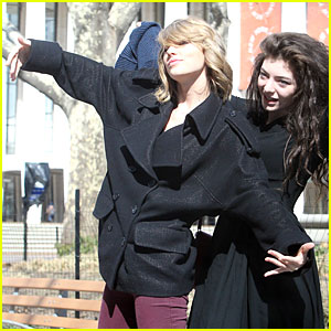 Taylor Swift & Lorde Show Their Fun & Silly Attitude