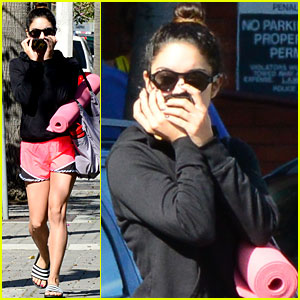 Vanessa Hudgens Ends the Week with Another Yoga C