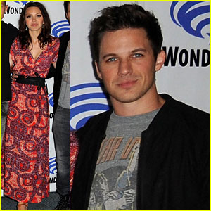 Aimee Teegarden & Matt Lanter are 'Star-Crossed' at Wondercon 2014!