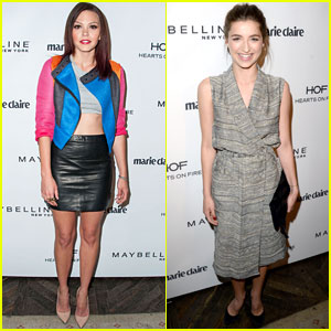 Aimee Teegarden Shows Off Toned Tummy at 'Marie Claire' Celebration with Ava Deluca-Verley