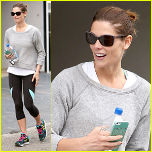 Ashley Greene Wears Super-Colorful Kicks at Gym