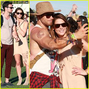 Ashley Greene and Boyfriend Paul Khoury Hang Out with Kellan Lutz at Coachella!