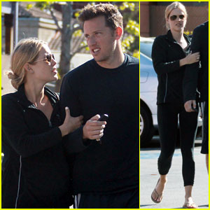 Claire Holt Holds On Tight to Her Boyfriend in Hollywood!