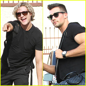 Charlie White & James Maslow: Group Dance Practice for DWTS