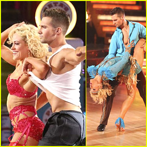 Peta Murgatroyd Strips James Maslow on 'DWTS' - See The Pics!